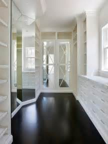 Closet Flooring by Mirrored Doors Transitional Closet Markay Johnson