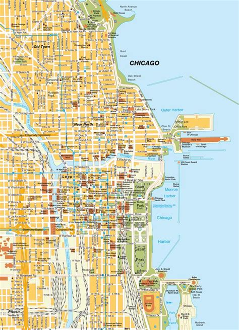 chicago map in usa chicago mapa usa