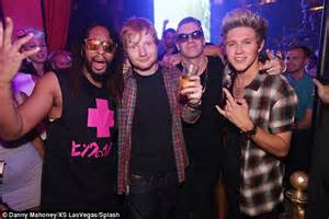ed sheeran cent ed sheeran and niall horan party in las vegas after