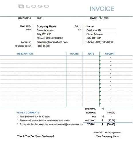 invoice template for hours worked free hourly invoice template excel pdf word doc