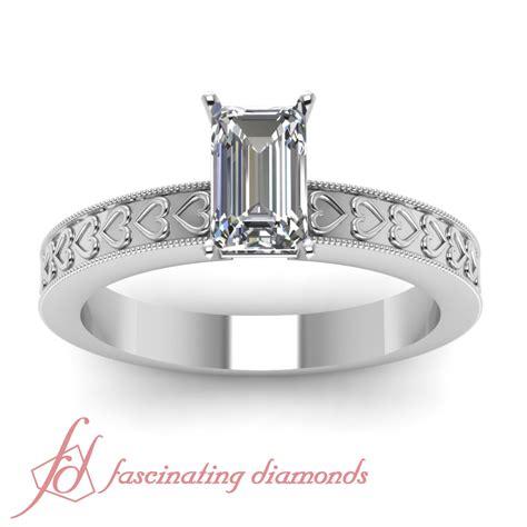carat emerald cut   color diamond engraved
