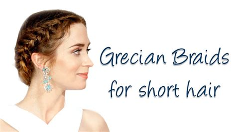 what the best hair to use for goddess braids easy grecian braids for short medium hair youtube