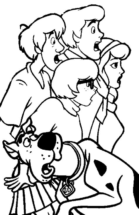 Printable Scooby Doo Coloring Pages Coloring Me Scooby Doo Printable Coloring Pages