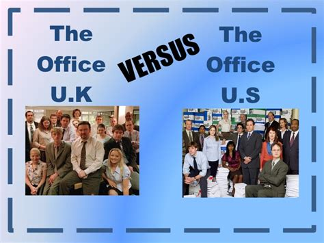 Search For In The Us 0761787 The Office Uk Vs The Office Us