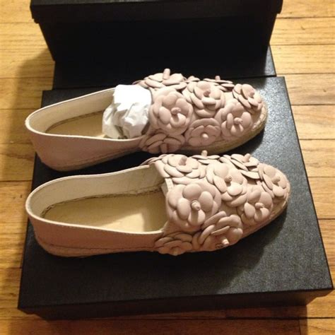 Chanel Flowers Slippers 15 chanel shoes new chanel pink camellia leather espadrilles 39 from luxnelle s closet