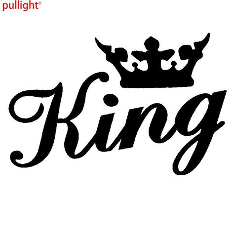 Cing Queen Aufkleber by King Crown Gold Funny Car Window Bumper Or Laptop Dub