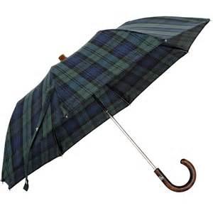 Handmade Umbrella - oertel handmade pocket umbrella tartan cotton blackwatch