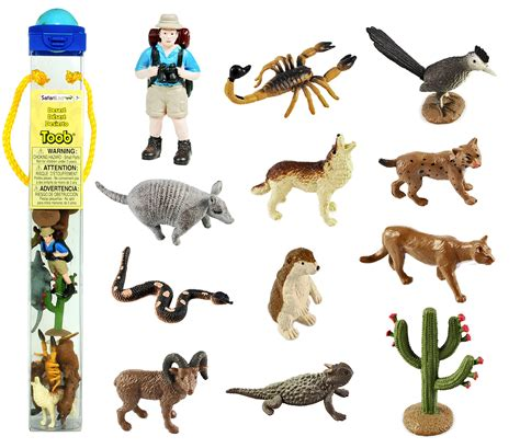 Figure Anjing Safari Ltd Toob safari ltd desert toob with 12 painted figurines