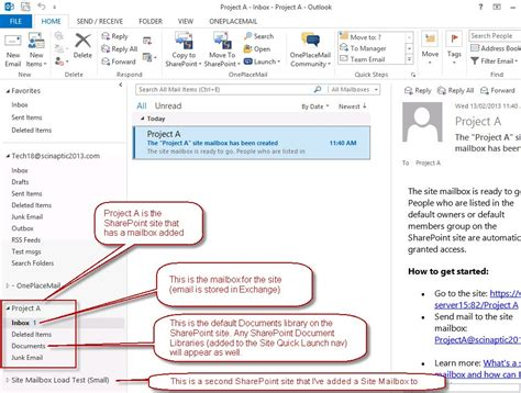 Office 365 Outlook Not Syncing Folders Sharepoint Site Mailbox Integration With Outlook A New