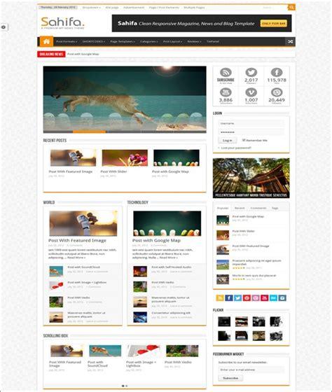 Sahifa Responsive News Magazine Theme 70 best html5 themes want a modern website