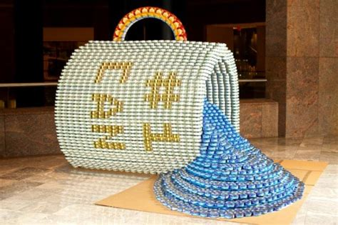 can sculpture canstruction s intricate food cans sculptures fight hunger
