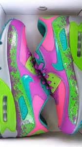 nike lime green pink purple blue athletic id air max