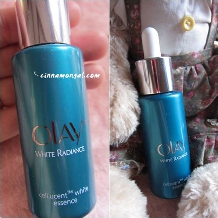 Olay White Radiance Cellucent White Essence Baru bloggang cinnamongal skincare review olay white