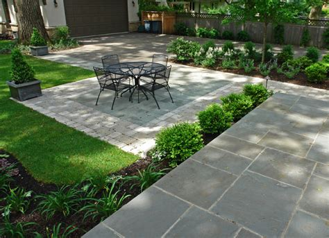 Oaks Brick Pavers Bluestone And Paver Brick Patio Traditional Landscape