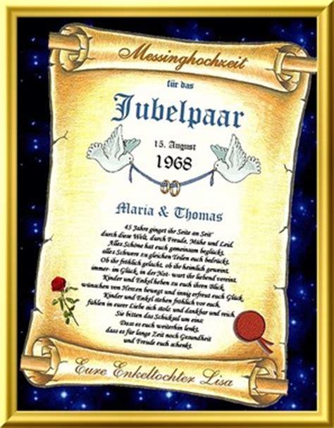 Hochzeit 45 Jahre by 45 Hochzeitstag Geschenkidee Eine Urkunde Mit Oder