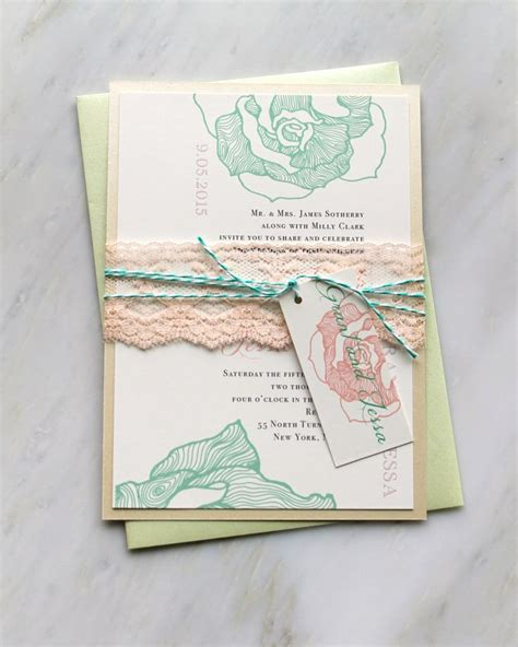 and mint green wedding invitations lace wedding invitations mint lilac wedding