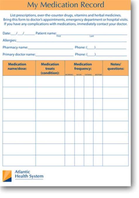 5 Patient Medication Log Templates Word Templates Medication List Template Free
