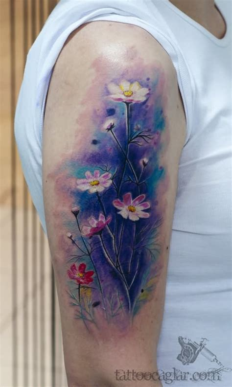 quarter sleeve watercolor tattoo 31 watercolor tattoos