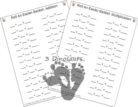 printable quarter rolls free roll an easter basket printable 3 dinosaurs