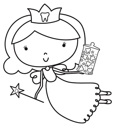 coloring page of tooth fairy tooth fairy coloring pages coloring pages