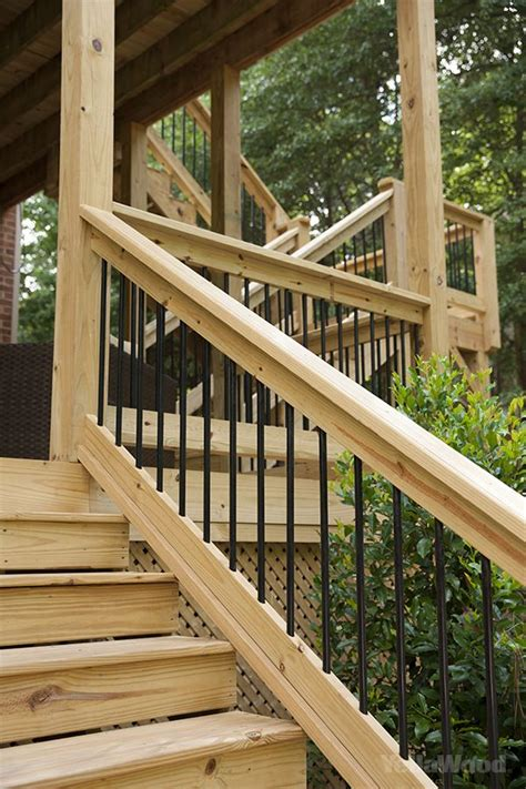 25 best ideas about wood deck railing on deck