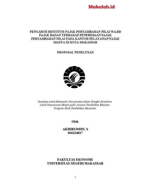 Proposal Skripsi Akuntansi Pdf