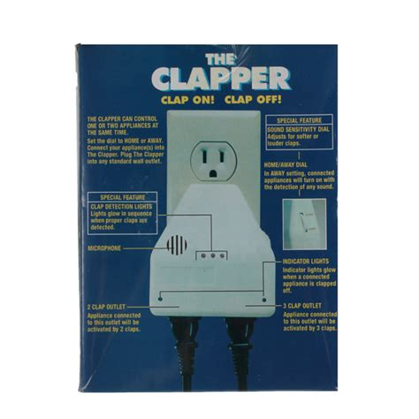 The Clapper Light Switch by New The Clapper Sound Activated Switch On Clap