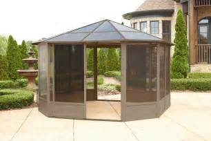Outdoor Canopy Gazebo 12x12 by Grand Resort 12x12 Hardtop Solarium Limited Availability