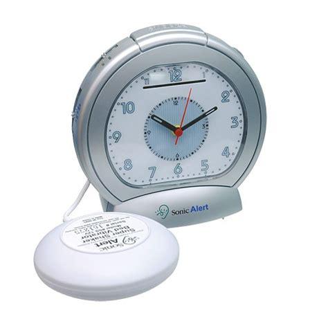 sonic boom analog vibrating alarm clock hearing impaired