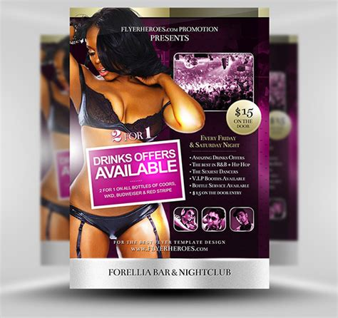 Bar Flyer Templates Free