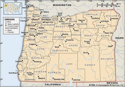 map of oregon washington border oregon britannica