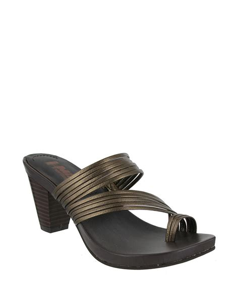 Esprit Leather Krem Ring Gold virgo leather toe ring sandals lyst