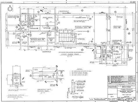 technical drawing floor plan msr missile support haer descriptions and drawings