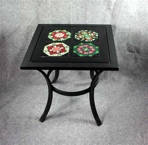 ceramic tile top patio table metal accent table side table coffee table patio table