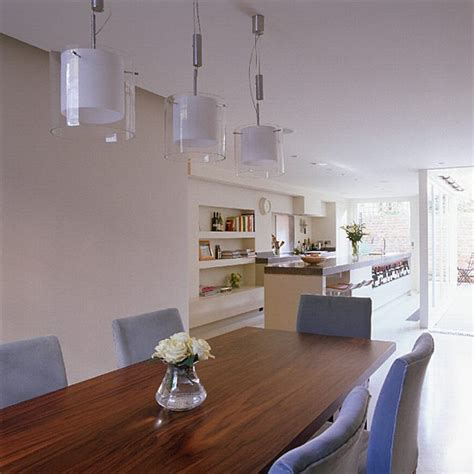kitchen diner lighting ideas open plan kitchen diner kitchen design decorating