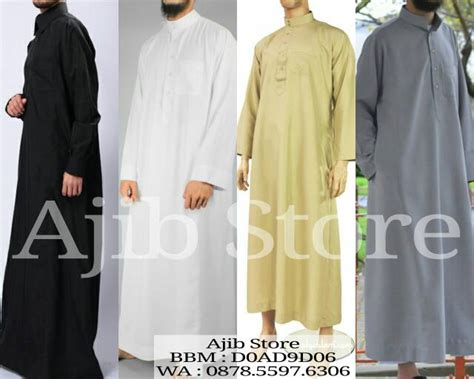 Baju Gamis Pria Import jual jubah impor baju gamis arab alharamain thobe pria al