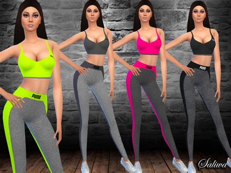 Tsr Sims 4 Clothes Sports | fitness outfit by saliwa at tsr 187 sims 4 updates