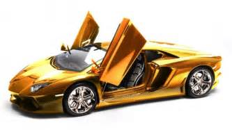 Lamborghini Where Is It Made The New Lamborghini Aventador Model Is Made Of Gold