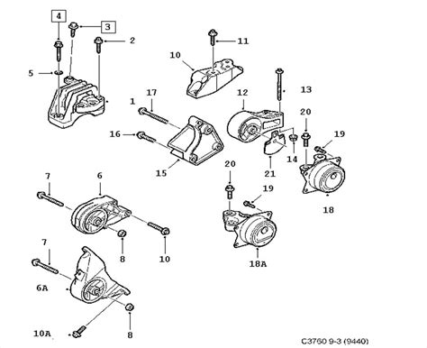 Engine Mount Diagram 2006 9 3 2 0t Saabcentral Forums