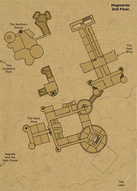 hogwarts castle floor plan 2nd floor by hogwarts castle on deviantart