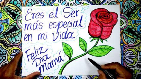 imagenes a lapiz para una madre c 243 mo dibujar un rosa para el d 237 a de la madre youtube