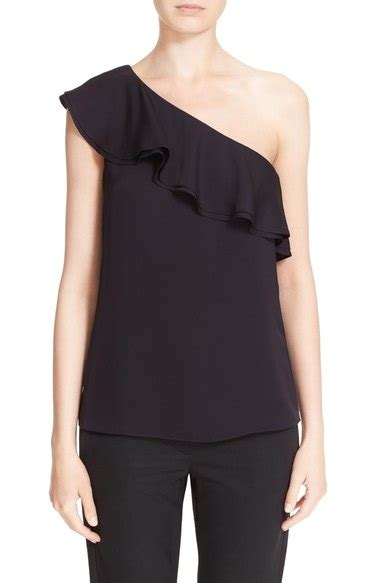Feto One Shoulder Top In Navy one shoulder tops on trend for summer