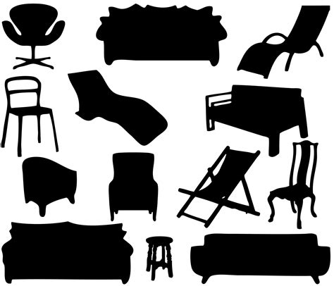Sofa Types Furniture Silhouettes Free Stock Photo Public Domain