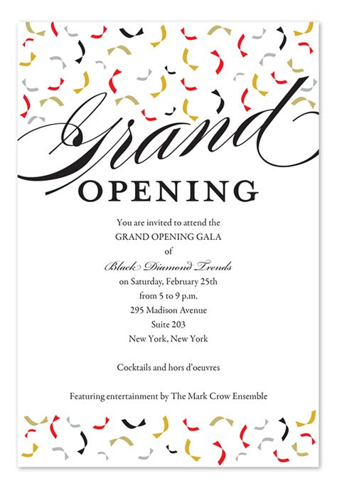 grand opening invitation templates invitation card format for shop opening
