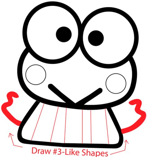 doodle keroppi how to draw keroppi from hello with easy step by