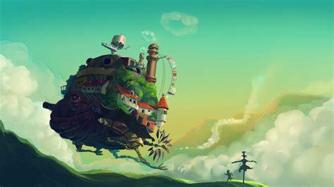 studio ghibli anime artwork grass howls moving castle