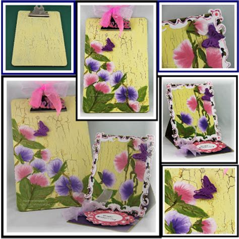 Furla 2526 2 Flower Embossed Set Quality Semipremi jinky s crafts designs altered clipboard easel card w paint fusion