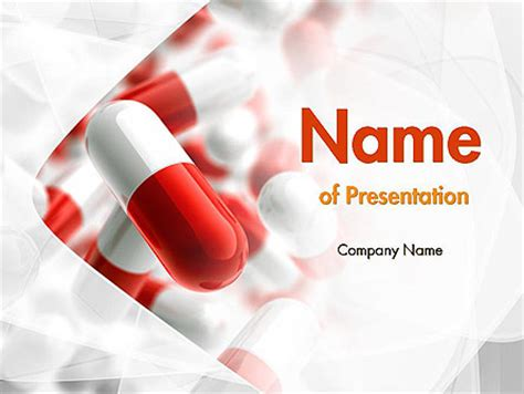 Red And White Pills Powerpoint Template Backgrounds 11539 Poweredtemplate Com Pills Powerpoint Template