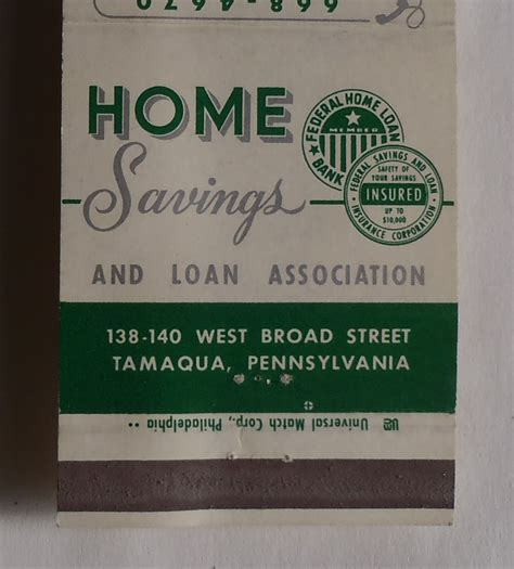 1960s home savings and loan association sign clock tamaqua