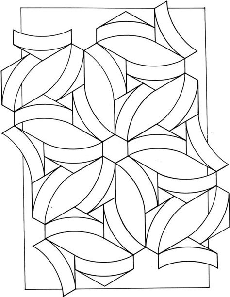 Coloring Pages Shapes Geometric geometric shapes coloring page